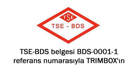 Türkiye'nin ilk <span>TSE-BDS</span> belgesi